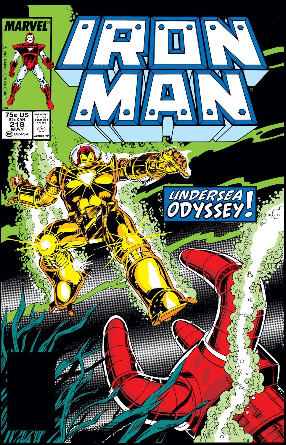 Iron Man #218 - Deep Trouble! released by Marvel Comics on May 1, 1987