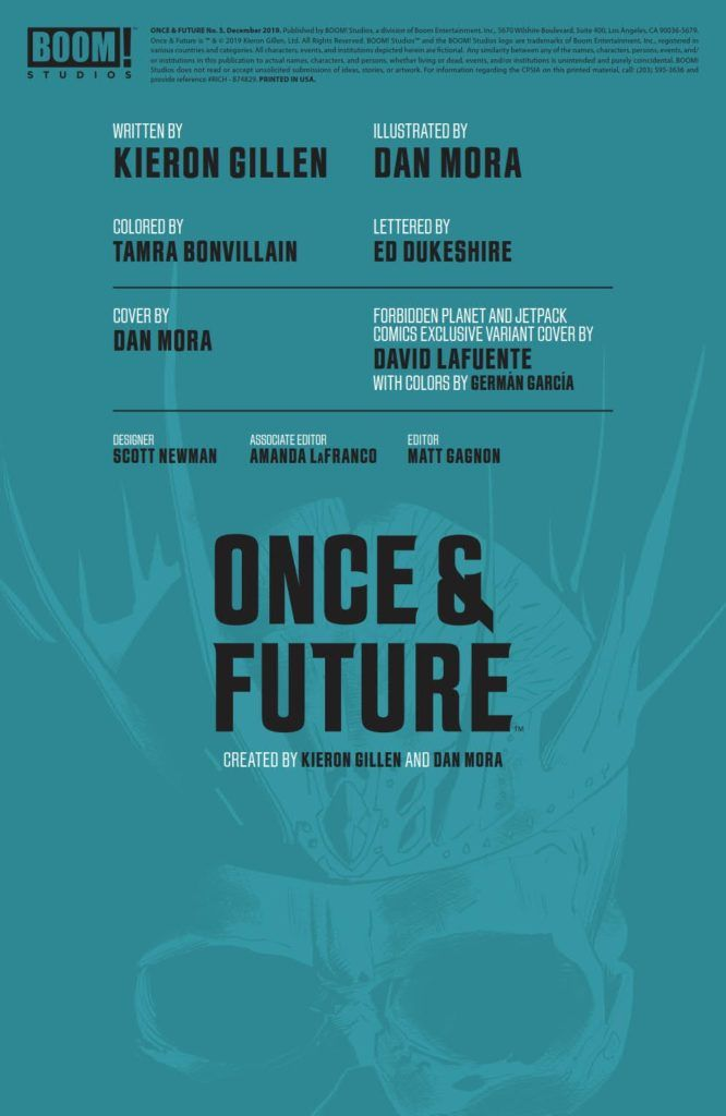 Once & Future #5 (@boomstudios) - Preview