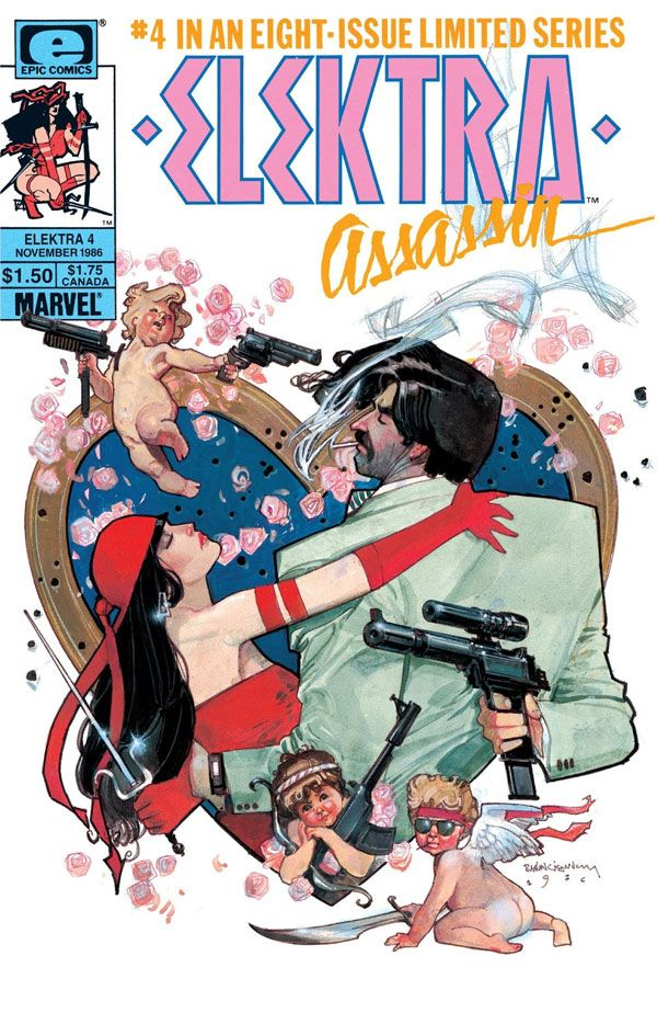 Elektra: Assassin #4 - Young Love released by Epic on November 1986
