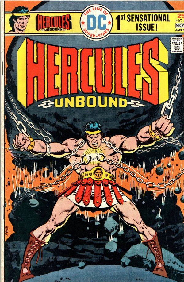 Hercules Unbound #1 released by DC Comics on November 1, 1975