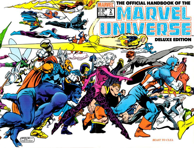 The Official Handbook of the Marvel Universe #2 - Beast To Clea