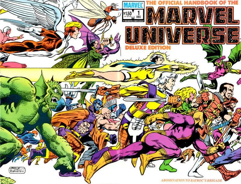 The Official Handbook of the Marvel Universe #1 - Abomination To Batroc's Brigade released by Marvel on August 28, 1985.