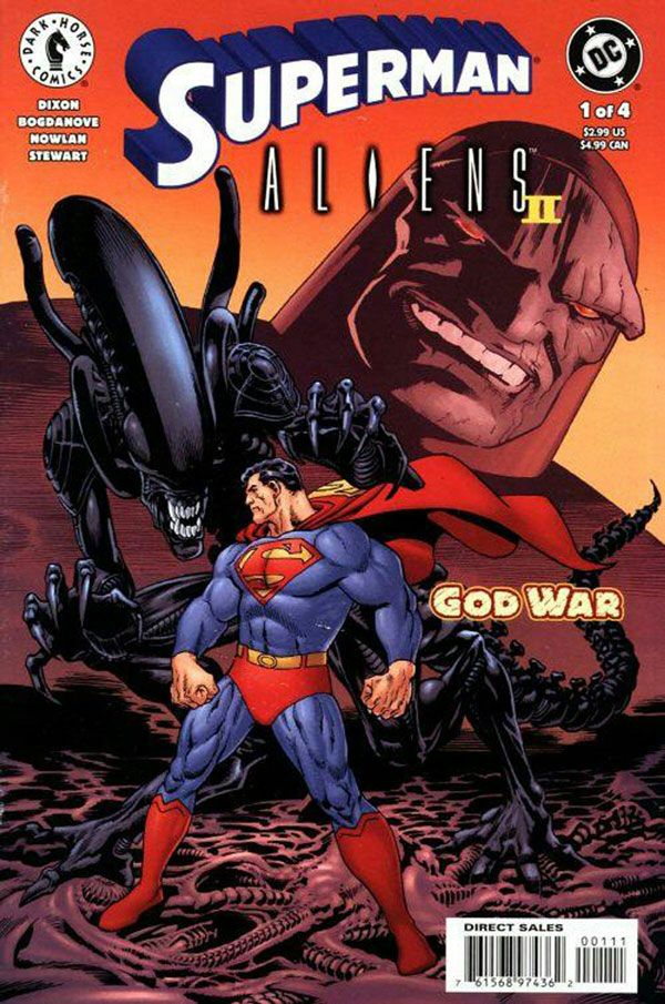 Superman Aliens 2: God War #1 released by DC Comics on May 2002