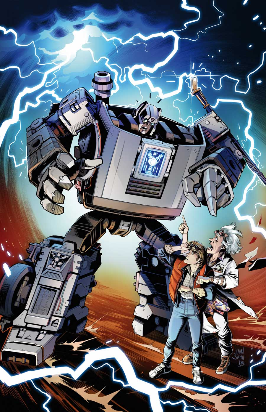 Transformers / Back to the Future Comic Book Crossover Debuts from IDW Publishing
