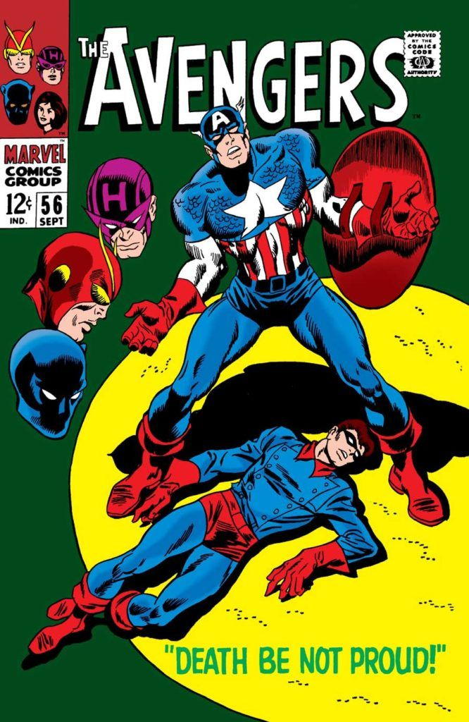 The Avengers #56 - Death Be Not Proud released by Marvel on September 1, 1968