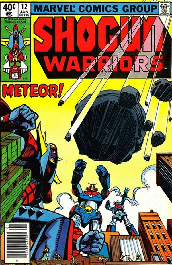 Shogun Warriors #12 - The Moon Menace! released by Marvel on January 1, 1980
