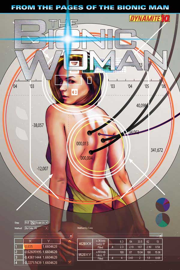 The Bionic Woman #10 released by Dynamite Entertainment on July 2013
