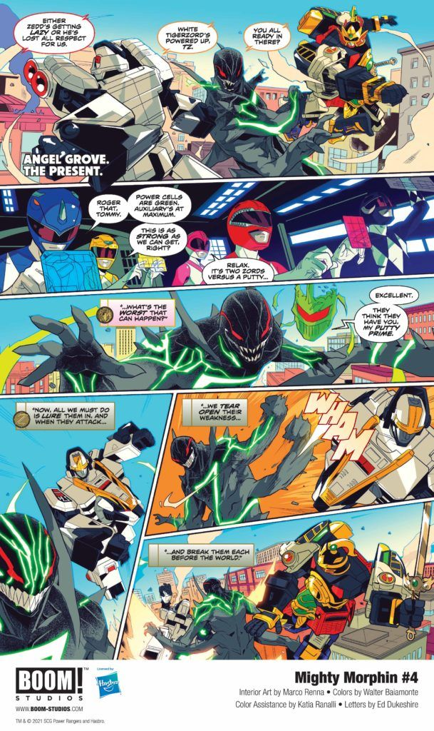 MIGHTY MORPHIN #4 from BOOM! Studios