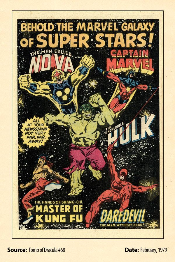 Behold The Marvel Galaxy Of Super Stars (1979) House Ad